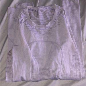 Purple Lululemon long sleeve
